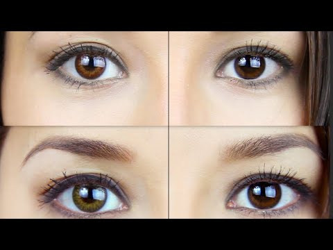 desio contacts demo all 8 colors on dark eyes contact lens colored e