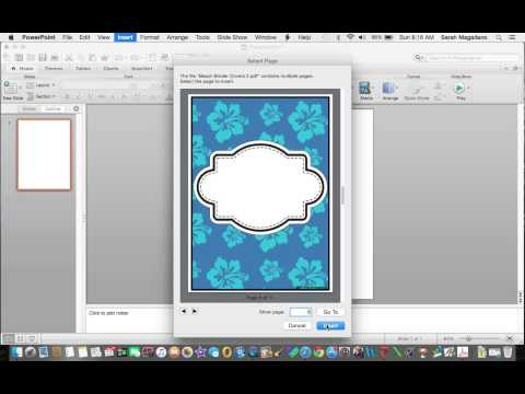 How to import PDF to PowerPoint Using a Mac