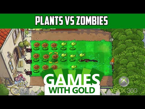 Plants vs Zombies Gameplay - Xbox 360 - Free Games with Gold - July 2015
