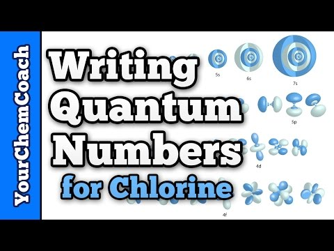 How to Write the Quantum Numbers for Chlorine