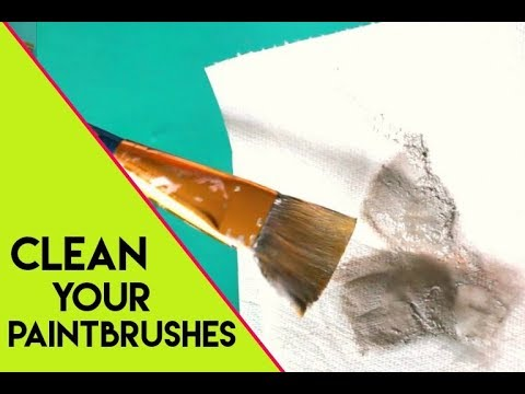 CRAFT TIP -save those paint brushes you forgot to clean!