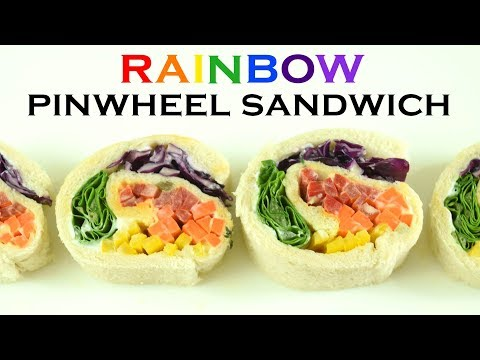 Veg Rainbow Pinwheel Sandwich| Delicious veggie - packed sandwich for your kids| Easy Snack Recipe|