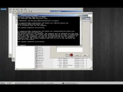Server 2003 - rename Domain Controller