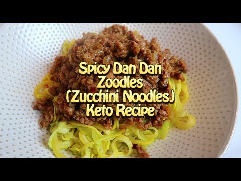 Spicy DanDan Zoodles (zucchini noodles) Easy Recipes Eps 52