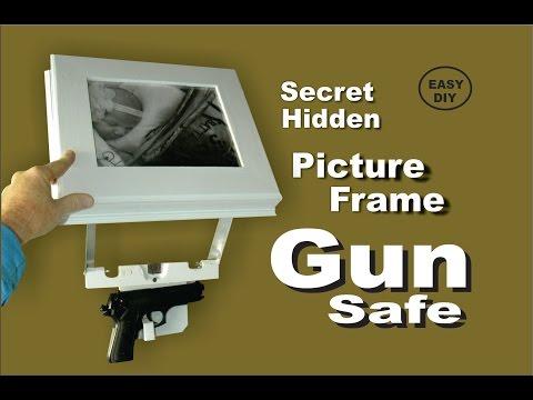 How to make a Picture Frame Secret Hidden Gun Safe, easy DIY