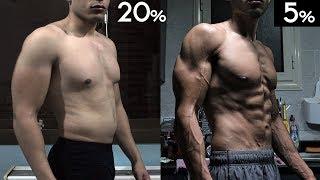 إزاي توصل لنسبة دهون 5% طبيعي ! / تحول جسم فيتنس طبيعي / إزاي تنشف / Vlog