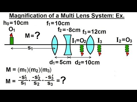 Physics: Optics- Multiple Lenses (12 of 12) Magnification of Multi Lens System: Example
