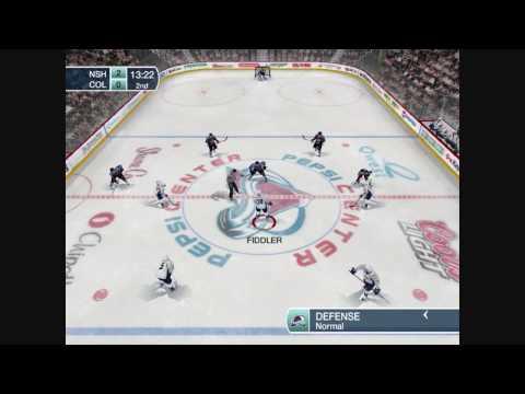 NHL 09 PC in HD NSH @ COL 2nd Period