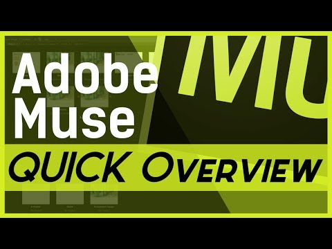 Adobe Muse - QUICK Overview to Decide if it's FOR YOU!