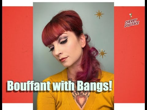 Vintage Hair 1960s Bouffant with Bangs! by CHERRY DOLLFACE