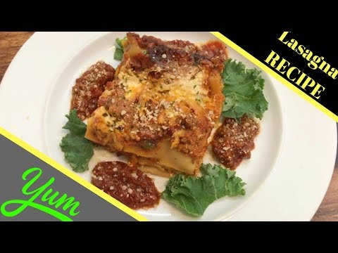 Easy Lasagna Recipe with Ground Beef and Italian Sausage | How to make Lasgana with meat sauce