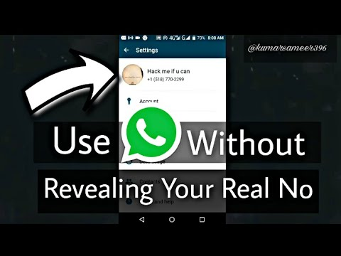 Use WhatsApp Without Revealing Your Real Number😎