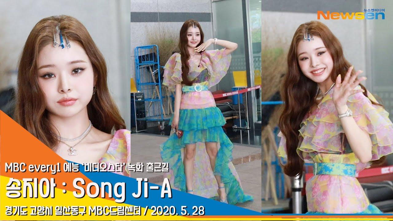모델 송지아(SongJiA), 프리지아 꽃향기를 휘날리며 (비디오스타 출근길)[NewsenTV]