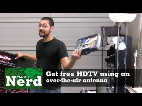 Get free HDTV using an over-the-air antenna