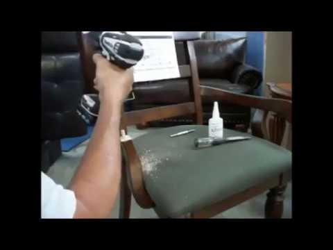 How do you fix broken arm chairs   , como arreglar el brazo roto de una silla