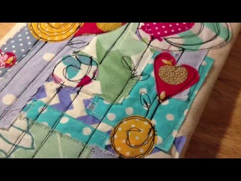 Sewn MacBook Sleeve: Hearts and Lollipops