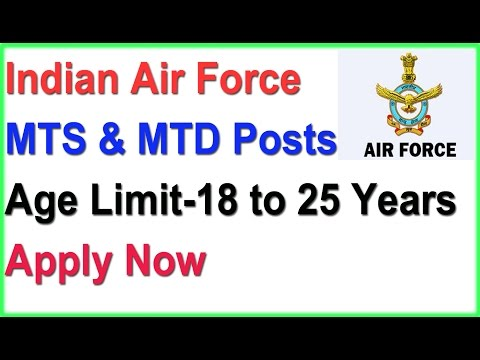 Apply Indian Air Force MTS Post recruitment 10th Pass | Last date 21/May/2017