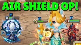 SUMMONERS WAR:  Testing Cichild ( Wind Mermaid ) in Guild Wars! Air Shield   Violent Runes