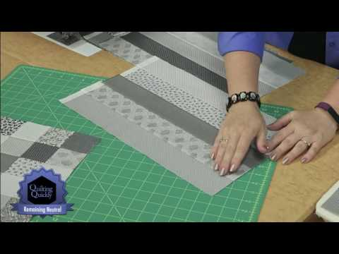 Quilting Quickly - Remaining Neutral Easy Patchwork Quilt
