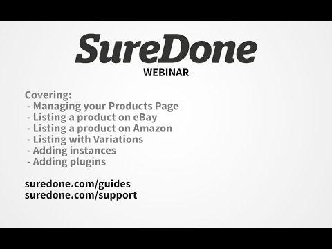 SureDone Webinar: Listing on eBay and Amazon