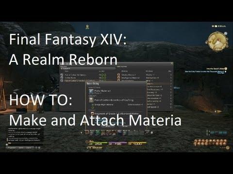 Final Fantasy XIV: How to Make and Attach Materia !!