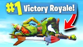 Fortnite GUIDED MISSILE RIDING Funny Moments!