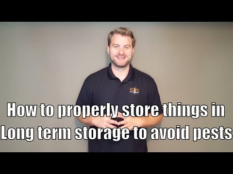 How to properly store things in long term storage to avoid pests