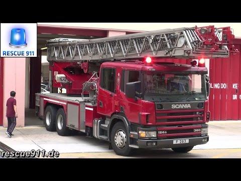 [Hong Kong Fire response]  MP + MRU + TL Mong Kok Fire Station