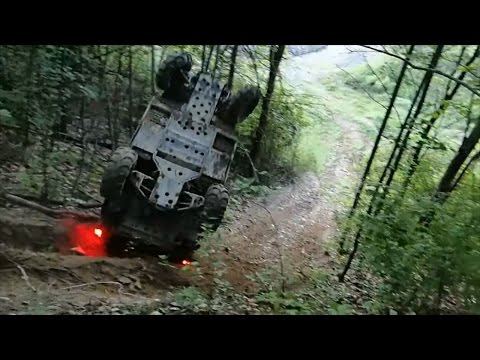 4x4 Rhino Off Roading Fail! Goes Uphill And Flips Over Backwards