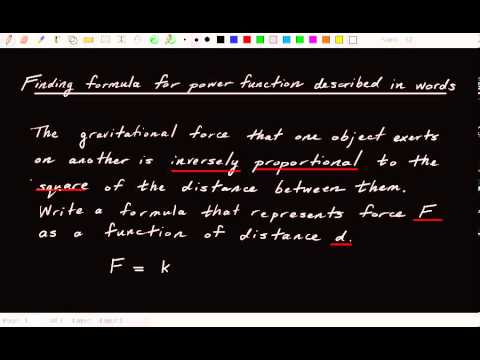 1.9.3 How to find formula for power function described in words