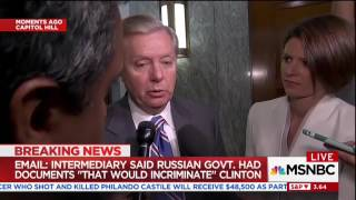 msnbc cuts grahams audio when he starts talking about the clinton campaign meeting with russians