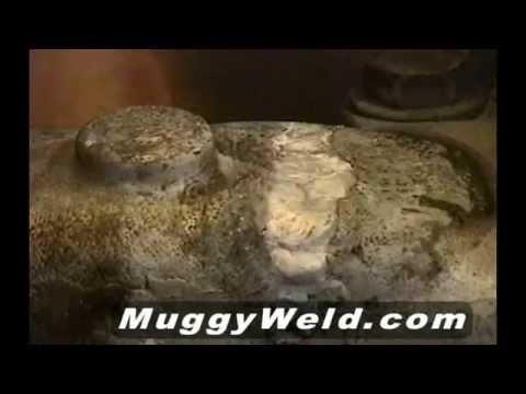 Fundición de aluminio utilizando un soplete de oxiacetileno con boquilla