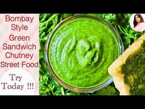 Green Chutney (Mumbai Roadside Recipe),Bombay Sandwich Chutney, How to make green chutney