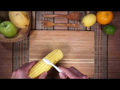 How to remove Corn Silk with a Toothbrush
