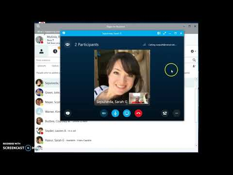 Using Skype for Business for Video Conferences