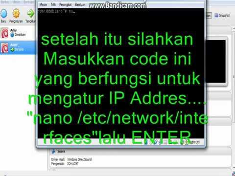 setting ip  Address di LINUX(DEBIAN)