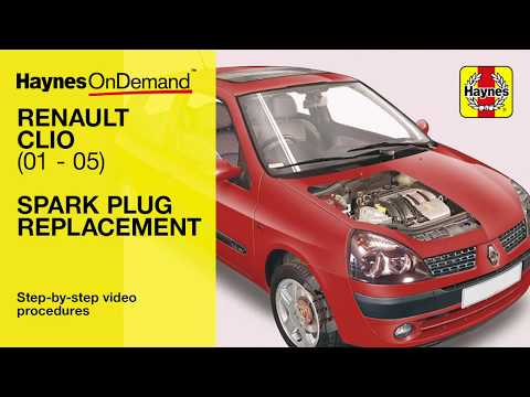 How to replace the spark plugs on a Renault Clio - Petrol and Diesel (Jun 01 - 05) Y to 55