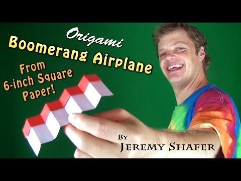 Origami Boomerang Airplane from 6-inch Kami