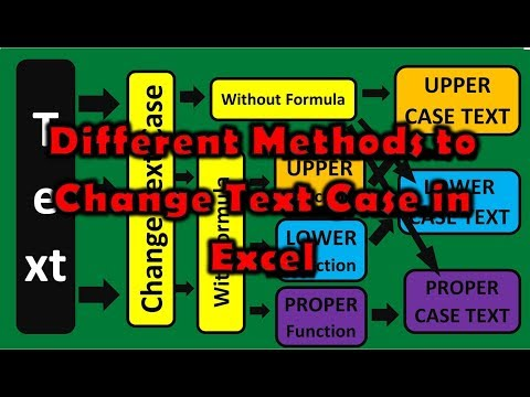 Different Methods to Change Text Case in MS Excel | How to Change Text Case in Excel (Tutorial)