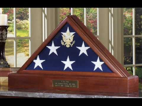 Burial Flag Display Case , Military flag cases
