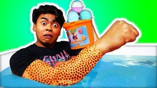 Download I Spent 24 Hours in 10,000 Bath Bombs Challenge! Video