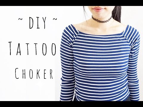 DIY Easy Tattoo Choker