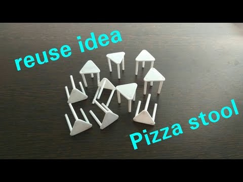 DIY   New idea   Don't throw Pizza Stool   Best out of waste