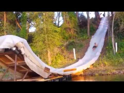 100ft Backyard Slip 'n Slide and Lake Jump