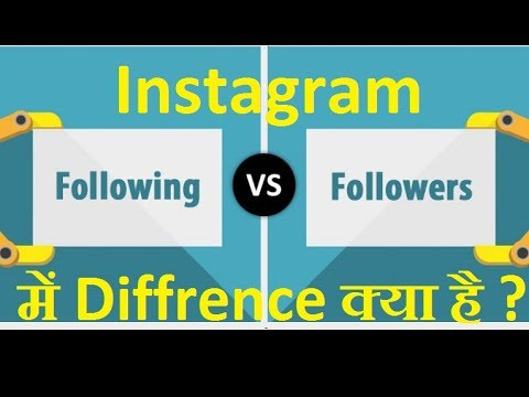 What is Difference between Following and Followers in Instagram in Hindi