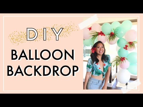 DIY Balloon Backdrop | Balloon Decoration Ideas