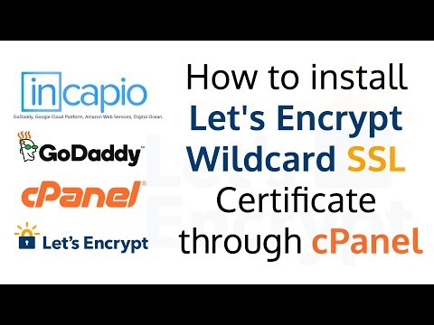 How to install Lets Encrypt Wildcard SSL Certificate through cPanel | GoDaddy | 2018