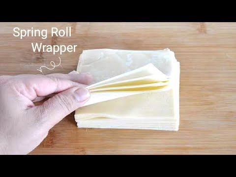 Spring roll wrappers Recipe   Homemade Samosa sheet   Easy Homemade Spring Roll Wrappers_FOOD BUZZ