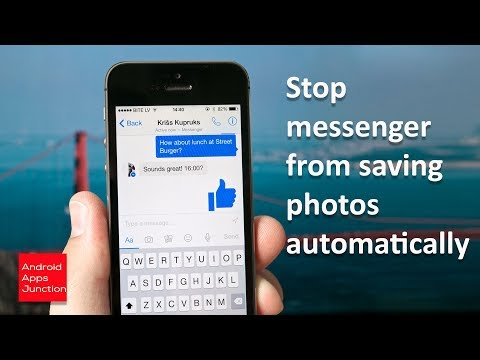 How to stop Facebook messenger from saving photos to gallery