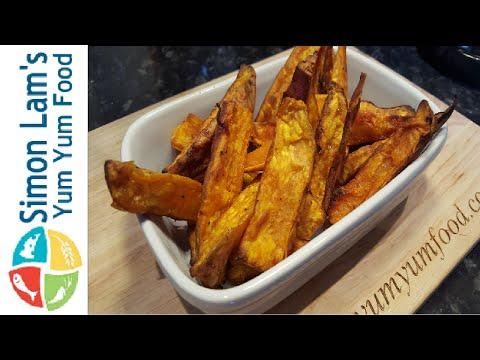 How to make Crispy Sweet Potato Wedges | Simon Lam's Yum Yum Food